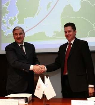 ОМК и Nord Stream подписали контракт на поставку труб для второй линии газопровода