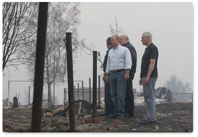 Пожарный визит Путина в Выксу
