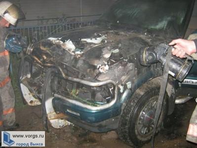 В Выксе зафиксирован поджог автомобиля