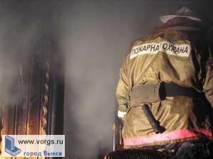 Пожар в микрорайоне Гоголя