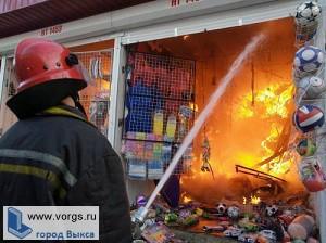 В Выксе горел торговый центр «АСС»