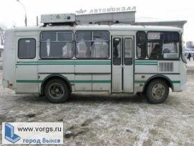 В Выксе горел рейсовый автобус ПАЗ