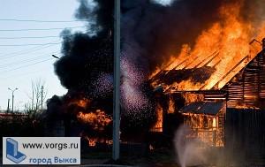 В Виле сгорела баня