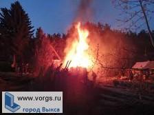 В селе Нижняя Верея загорелась баня
