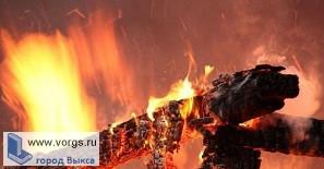 В Верхней Верее произошел пожар