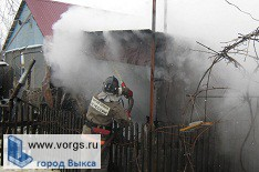 В Выксе горел сарай