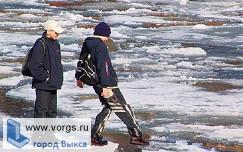 В Выксе двое детей откололись на льдине
