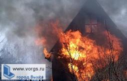 В Борковке загорелся садовый домик