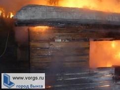 В Выксе сгорела баня