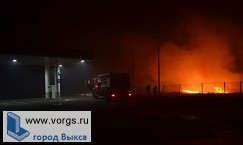 В Выксе около заправки произошло возгорание