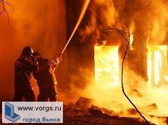 В Выксе на улице Шлаковая произошел пожар