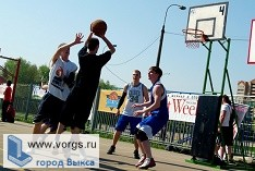 В Выксе были проведены состязания по уличному баскетболу