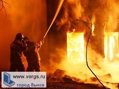 В деревне Грязная произошел пожар