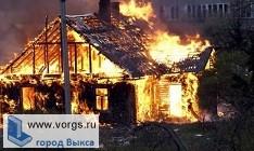 В Ближне-Песочном сгорел дом