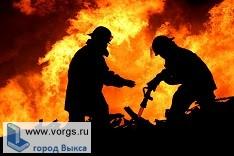 В Выксе произошел пожар на Красной площади