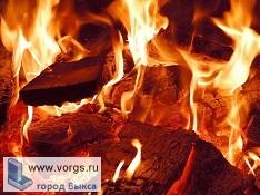 В поселке Виля произошел пожар