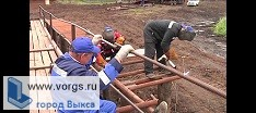 В с.п. Унор жители сами построили мост