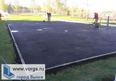 В Мотмосской средней школе строят спортивную площадку