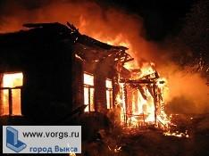 В Досчатом сгорел нежилой дом