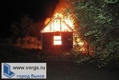 В поселке Досчатое произошел пожар