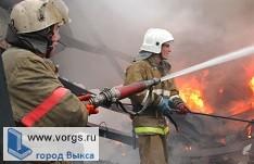 В Выксе горел дом