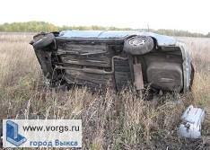 На трассе Выкса - Шиморское авто опрокинулось в кювет